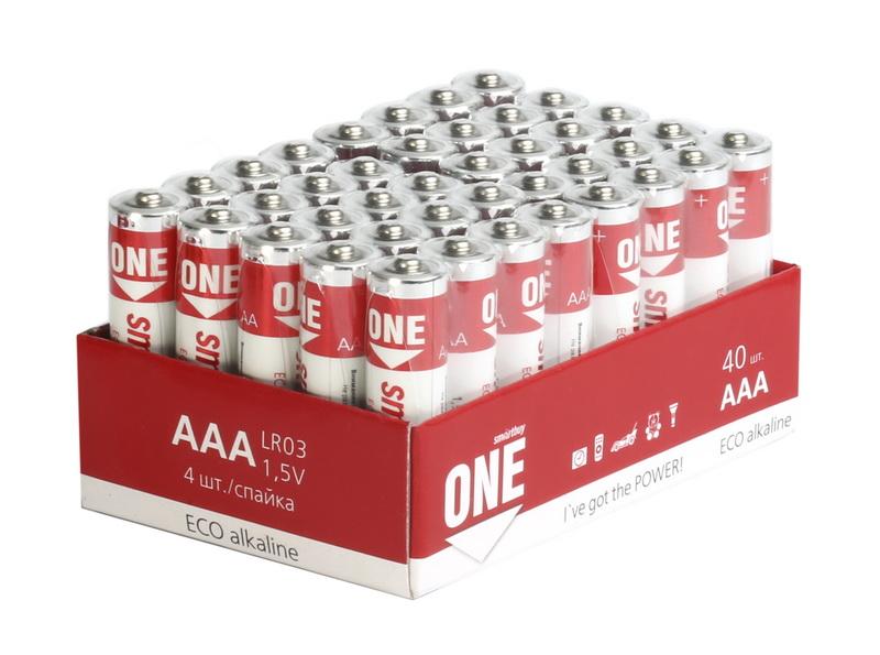 Батарейка алкалиновая Smartbuy ONE LR03/40 bulk (40/960)  (SOBA-3A40S-Eco) - фото