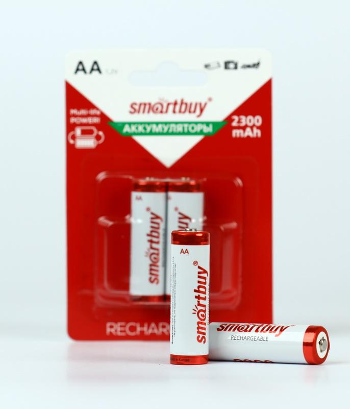 Аккумулятор NiMh Smartbuy AA/2BL 2300 mAh (24/240) (SBBR-2A02BL2300) - фото