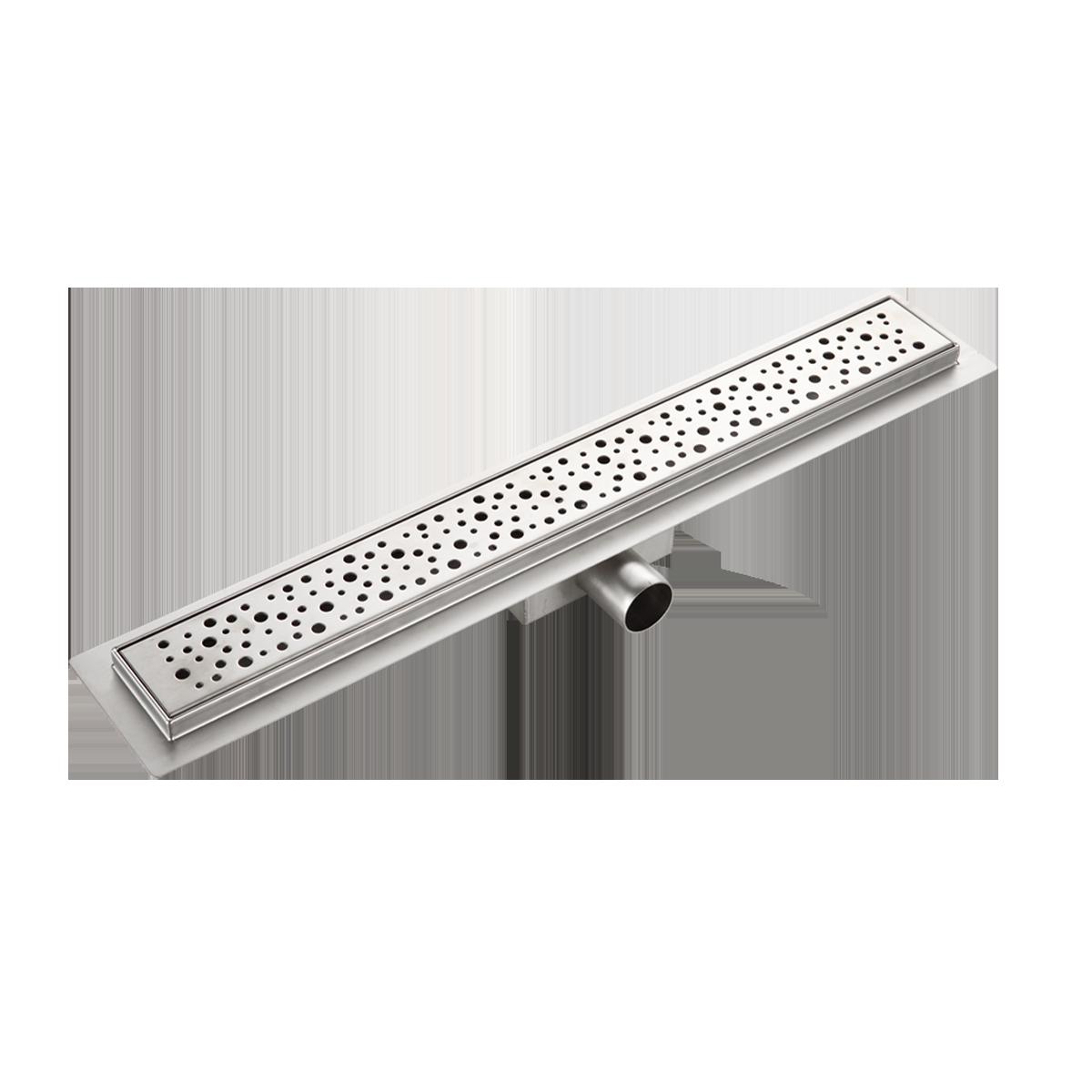 Душевой лоток из нержавеющей стали, сухой и мокрый затвор, 70 х 600 мм, Gappo G86007-2 - фото